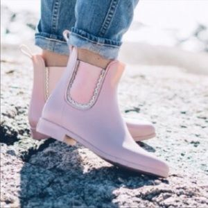 Jack Rogers Blush Pink Sallie Rain Booties Size 7
